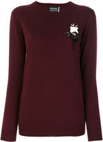 Markus Lupfer embroidery and sequin polar jumper