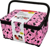 Singer 11.5 x 6 x 6.5-Inch Pink Notions Sewing Basket