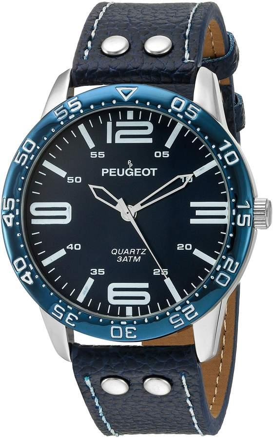 Peugeot Men's 2049SBL Aviator Sports Analog Display Quartz Blue Watch