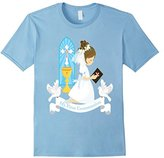 My First Communion Shirt Gift Kids Daughter Girls Brunette
