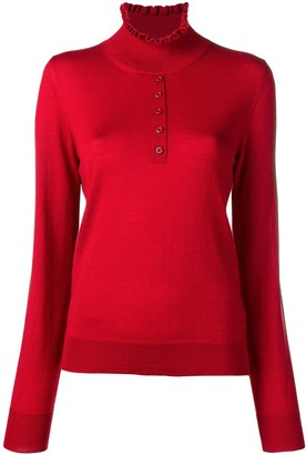 Carven Ruffled Neck Jumper
