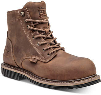 """Timberland Men 6"""" Waterproof Safety-Toe Millworks Boots Men Shoes"""