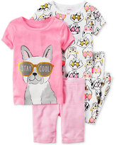 Carter's 4-Pc. Stay Cool Dot Pajama Set, Baby Girls (0-24 months)