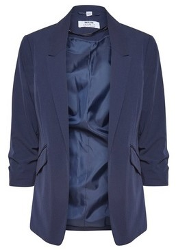 Dorothy Perkins Womens Dp Petite Navy Ruched Sleeve Jacket