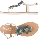 Coral Blue Thong sandals