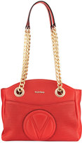 Valentino By Mario Valentino Camelie Leather Shoulder Bag, Red
