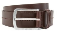 HUGO BOSS Italian-made belt in smooth leather with tonal stitching