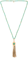 Ettika Hippie Wake Up Necklace in Turquoise.