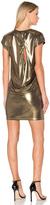 Halston Foil Jersey Dress