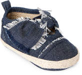 Rising Star (Infant Girls) Knotted Denim Espadrilles