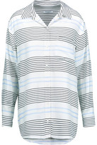Equipment Daddy Striped Washed-Silk Shirt