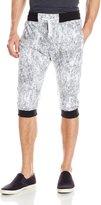 Southpole Men's Jogger Capri Pants All Over Acid Washed Patterns