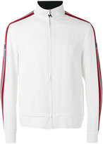 MSGM striped sleeve zip top - men - Acetate/Viscose - 48