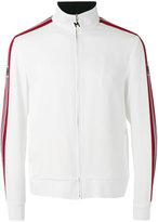 MSGM striped sleeve zip top - men - Acetate/Viscose - 50