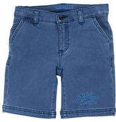 Guess Embroidered Logo Denim Shorts