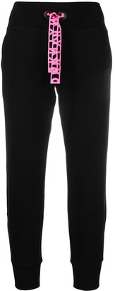 DKNY Crosby cropped cotton track trousers