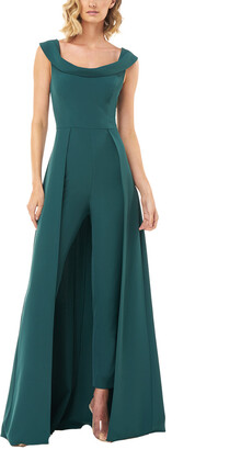 Kay Unger Sleeveless Square Neck Anais Jumpsuit