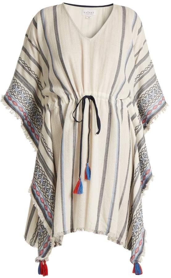 Velvet by Graham & Spencer Adalina striped cotton dress