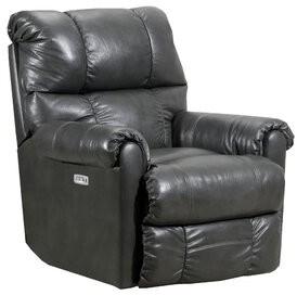 Lane Furniture Crisscross Recliner Lane Furniture Fabric: Granite Leather Match, Reclining Type: Power, Motion Type: Rocker with Heat & Massage