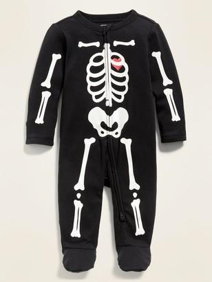 Old Navy Unisex Halloween Fold-Over Mitten Footie One-Piece for Baby