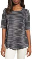 Eileen Fisher Stripe Organic Linen Top