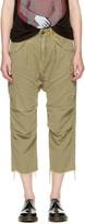 R 13 Green Hemp Harem Cargo Pants