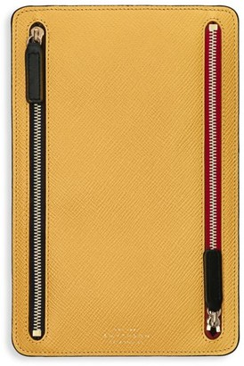 Smythson Panama Zip Leather Currency Case