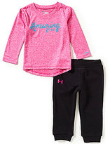 Under Armour Baby Girls 12-24 Months Amazing Long-Sleeve Tee & French Terry Sweat Pant Set