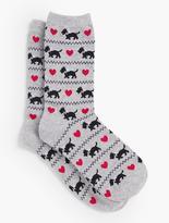 Talbots Scottie Dog Trouser Sock