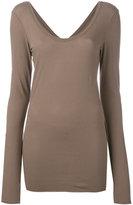 Isabel Benenato thumbhole slim-fit T-shirt - women - Cotton - 38