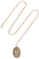 Cvc Stones Un-veil Me 18-karat Gold, Stone And Diamond Necklace