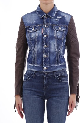DSQUARED2 Fringes Denim Jacket