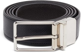 Dunhill Reversible Grained-leather Belt - Black Brown