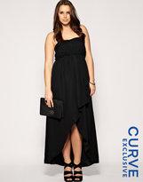 ASOS CURVE Exclusive Long & Short Bandeau Maxi Dress