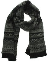 Fownes Womens Pattern Decorative Winter Scarf Gray O/S