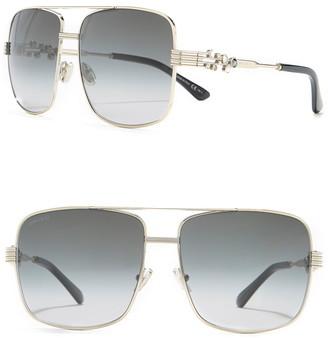 Jimmy Choo Tonia 61mm Square Aviator Sunglasses
