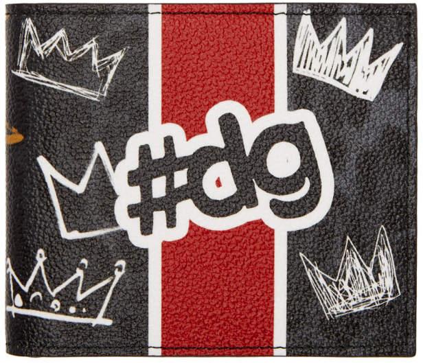 Dolce & Gabbana Black Graffiti Wallet