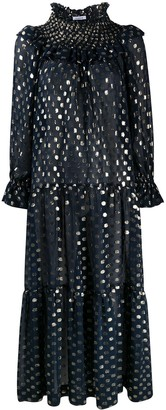 P.A.R.O.S.H. Metallic Polka Dot Dress