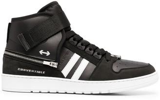 Neil Barrett Side-Stripe High-Top Sneakers