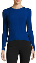 Catherine Malandrino Wide-Ribbed Pullover Sweater, Cobalt