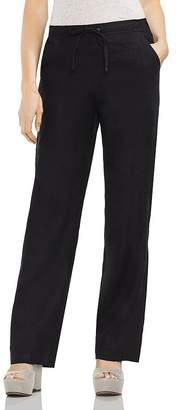 Vince Camuto Linen Drawstring Wide-Leg Pants