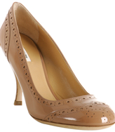 cameo patent leather wingtip pumps