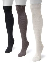 Muk Luks Diamond Knee High Sock - Pack of 3