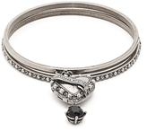 Alexander McQueen Faux pearl-embellished heart-drop bracelet