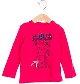 Armani Junior Girls' Printed Embellished Top