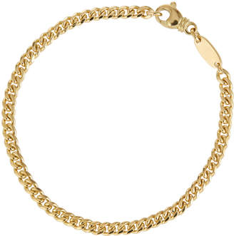 Estate Jewelry Estate 18k Yellow Gold Curb-Link Chain Bracelet, 5mm