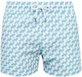 FRESCOBOL CARIOCA Sports Leme-print swim shorts