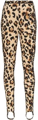 Thierry Mugler Leopard Print Stirrup Leggings