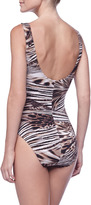 Karla Colletto Animal-Print One-Piece Swimsuit
