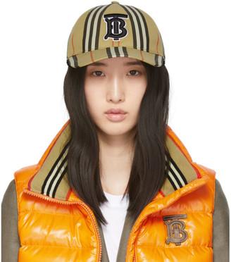 Burberry Beige Icon Stripe Baseball Cap